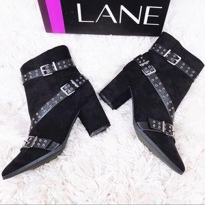 Lane Bryant Woman's Size 12W Black Booties